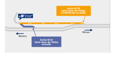 A9 - Modification de la sortie de Saint-Jean-de-Védas