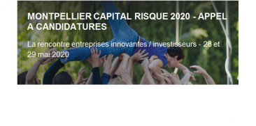 Appel à candidatures - Montpellier Capital Risque 2020